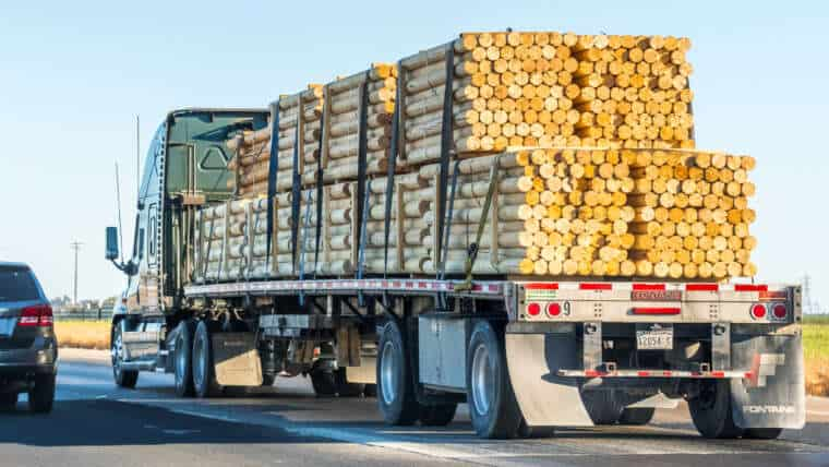 Ways to Stay Safe When Driving Around Logging Trucks